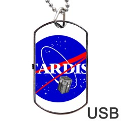 Tardis Nasa Parody Dog Tag Usb Flash (one Side) by Samandel