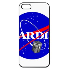 Tardis Nasa Parody Apple Iphone 5 Seamless Case (black)