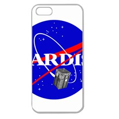 Tardis Nasa Parody Apple Seamless Iphone 5 Case (clear) by Samandel