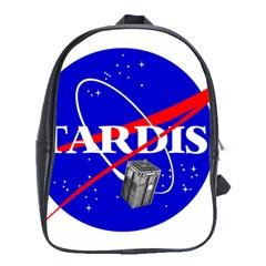 Tardis Nasa Parody School Bag (xl) by Samandel