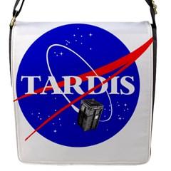 Tardis Nasa Parody Flap Messenger Bag (s)