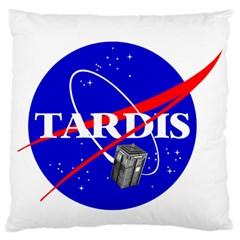 Tardis Nasa Parody Standard Flano Cushion Case (two Sides)
