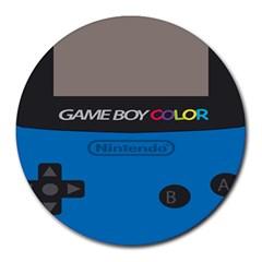 Game Boy Colour Blue Round Mousepads