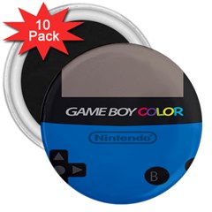 Game Boy Colour Blue 3  Magnets (10 Pack)