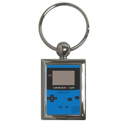 Game Boy Colour Blue Key Chains (rectangle)