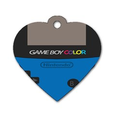 Game Boy Colour Blue Dog Tag Heart (two Sides)