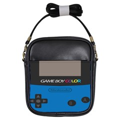 Game Boy Colour Blue Girls Sling Bags