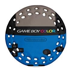 Game Boy Colour Blue Ornament (round Filigree)