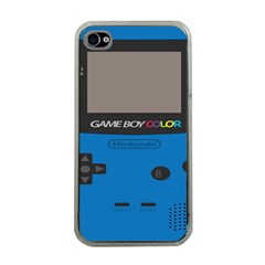 Game Boy Colour Blue Apple Iphone 4 Case (clear)