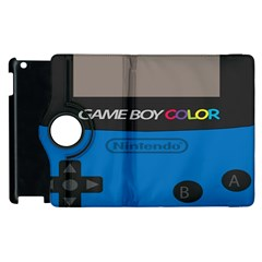 Game Boy Colour Blue Apple Ipad 3/4 Flip 360 Case