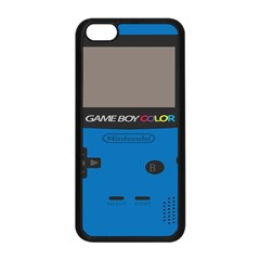 Game Boy Colour Blue Apple Iphone 5c Seamless Case (black) by Samandel