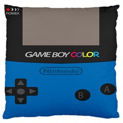 Game Boy Colour Blue Large Flano Cushion Case (two Sides) by Samandel