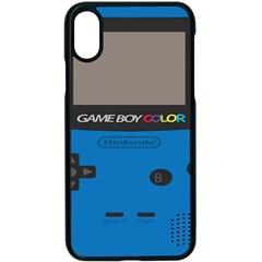 Game Boy Colour Blue Apple Iphone X Seamless Case (black)