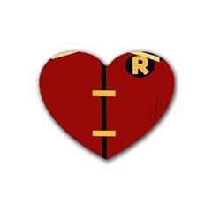 Robin Body Costume Rubber Coaster (heart)