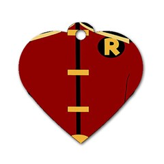 Robin Body Costume Dog Tag Heart (two Sides)