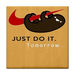Sloth Just Do It Tomorrow Tile Coasters