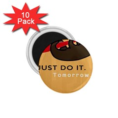 Sloth Just Do It Tomorrow 1 75  Magnets (10 Pack)