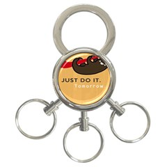 Sloth Just Do It Tomorrow 3 Ring Key Chains