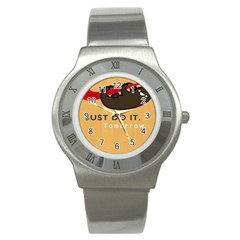 Sloth Just Do It Tomorrow Stainless Steel Watch