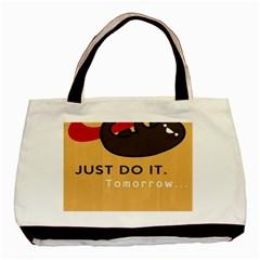 Sloth Just Do It Tomorrow Basic Tote Bag