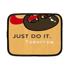 Sloth Just Do It Tomorrow Netbook Case (small)