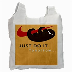 Sloth Just Do It Tomorrow Recycle Bag (one Side)