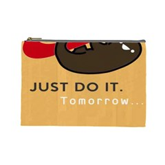 Sloth Just Do It Tomorrow Cosmetic Bag (large)