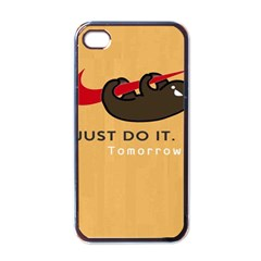 Sloth Just Do It Tomorrow Apple Iphone 4 Case (black)