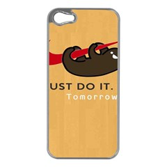 Sloth Just Do It Tomorrow Apple Iphone 5 Case (silver)