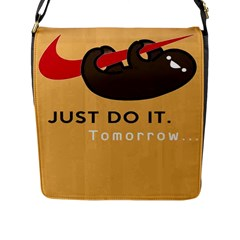 Sloth Just Do It Tomorrow Flap Messenger Bag (l)