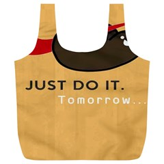Sloth Just Do It Tomorrow Full Print Recycle Bags (l)