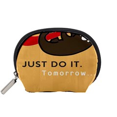 Sloth Just Do It Tomorrow Accessory Pouches (small)  by Samandel