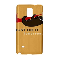 Sloth Just Do It Tomorrow Samsung Galaxy Note 4 Hardshell Case by Samandel