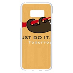 Sloth Just Do It Tomorrow Samsung Galaxy S8 Plus White Seamless Case