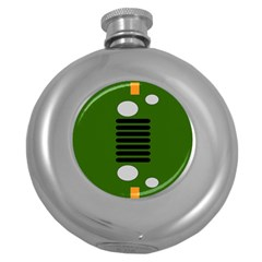 Jeep Simple Logo Round Hip Flask (5 Oz)