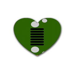 Jeep Simple Logo Heart Coaster (4 Pack)
