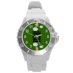 Jeep Simple Logo Round Plastic Sport Watch (l) by Samandel