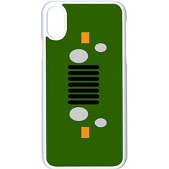 Jeep Simple Logo Apple Iphone X Seamless Case (white)