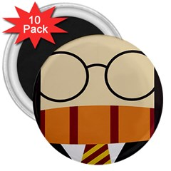 Harry Potter Cartoon 3  Magnets (10 Pack)