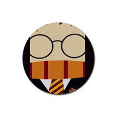 Harry Potter Cartoon Rubber Coaster (round)