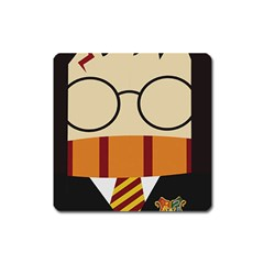 Harry Potter Cartoon Square Magnet