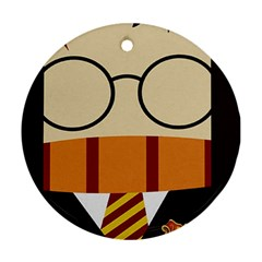 Harry Potter Cartoon Round Ornament (two Sides)