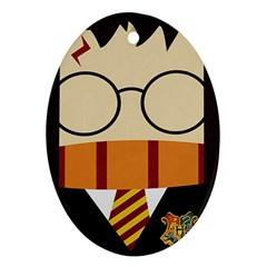 Harry Potter Cartoon Oval Ornament (two Sides)