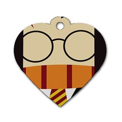 Harry Potter Cartoon Dog Tag Heart (two Sides)
