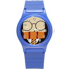 Harry Potter Cartoon Round Plastic Sport Watch (s) by Samandel