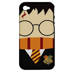 Harry Potter Cartoon Apple Iphone 4/4s Hardshell Case (pc+silicone)