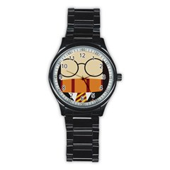 Harry Potter Cartoon Stainless Steel Round Watch