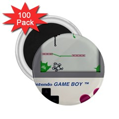 Game Boy White 2 25  Magnets (100 Pack)