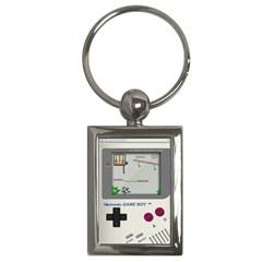 Game Boy White Key Chains (rectangle)