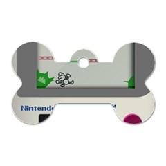 Game Boy White Dog Tag Bone (one Side)